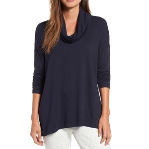 Lou & Grey Navy Cowl Neck Sweater